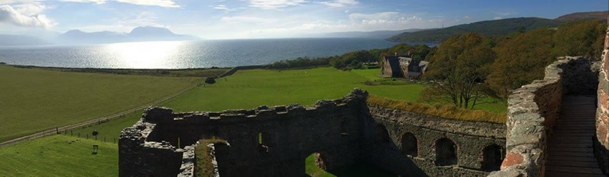 Skipness Castle with Arran