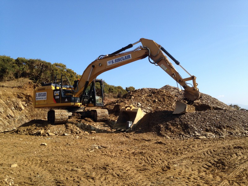 Digging commences on the hydro electric scheme