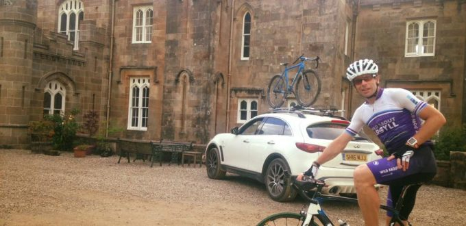 Mark Beaumont at Torrisdale